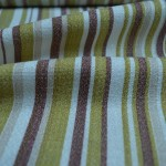 Lime Striped Curtain Material