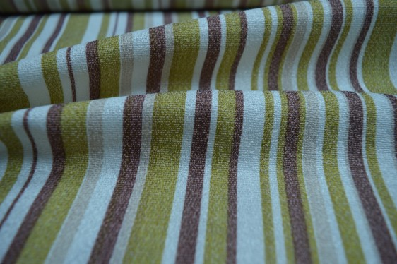 Gold striped curtain material