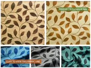 Ravelo LEaf Trail Curtain Fabric