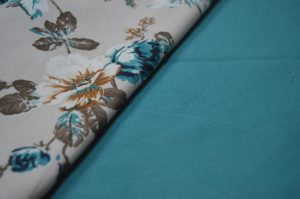 Plain Blue Curtain Fabric