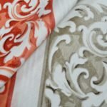 Floral pattern curtain material