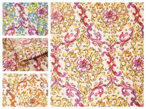 Multi Coloured Curtain Fabric