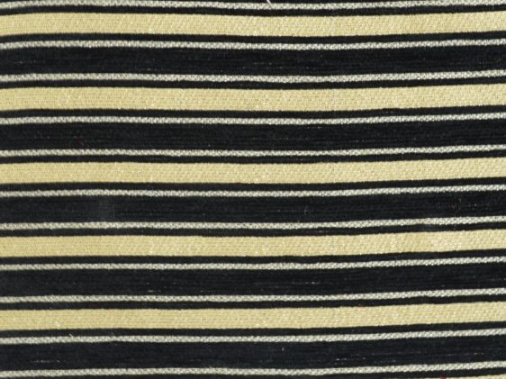 Canterbury Black Stripes With Gold Curtain Fabric Curtains Fabx - Black and gold stripe drapery fabric