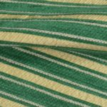 Green and Gold Stripes curtain fabric