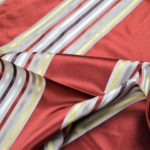 Red Stripes Curtain Fabric