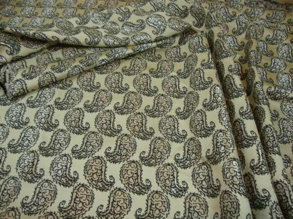 Paisley Design Curtain Fabric