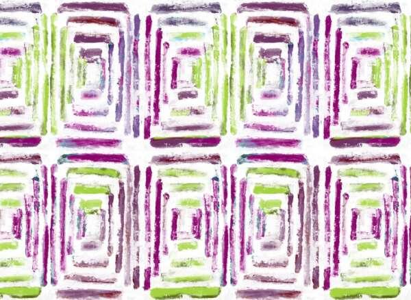 Retro print curtain fabric