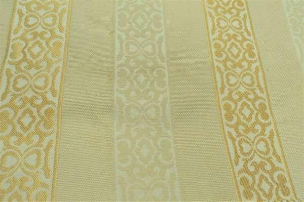 Gold Striped Curtain Fabric