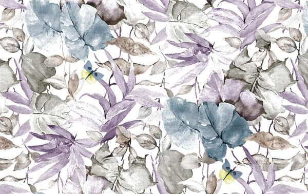 leafy design curtain fabric