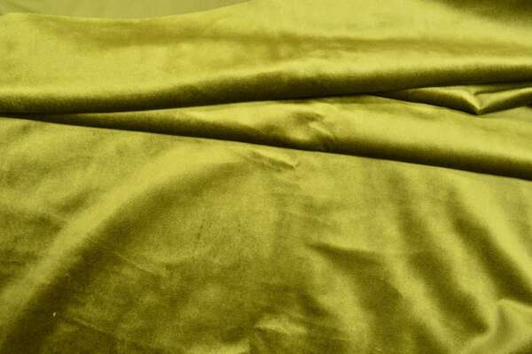 Green velvet curtain fabric