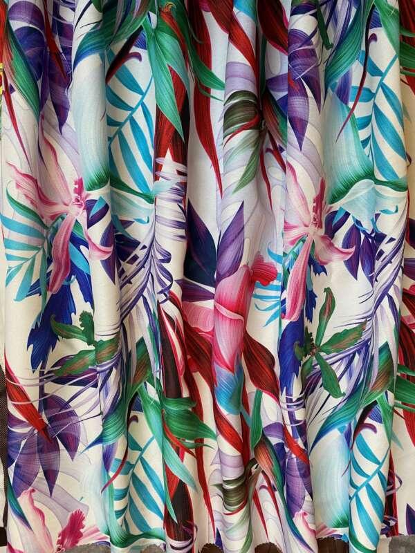 Tropical Palm Leaf Print Fabric