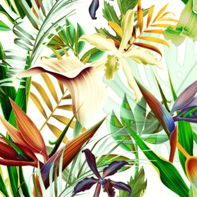 Pamir Floral curtain material