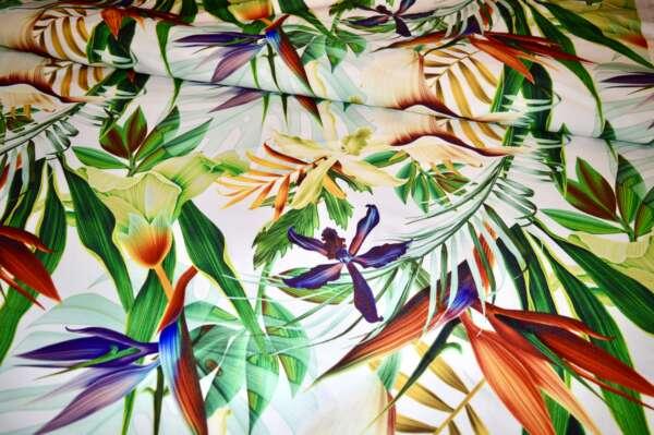 Foliage Print Curtain Fabric