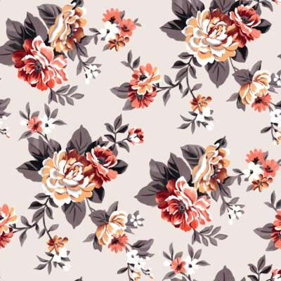 Flower Print Curtain Fabric