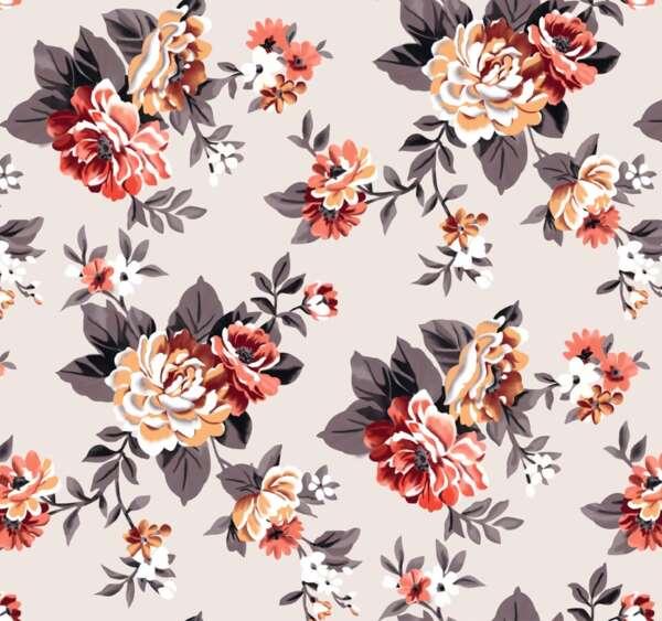 Flower Print Curtain Fabric