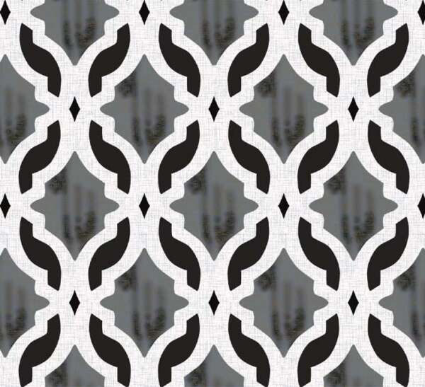 Grey and Black Curtain Material