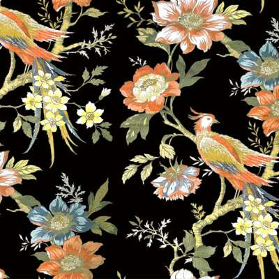 Pheasant print fabric