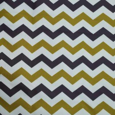 Zig Zag Print Curtain Fabric