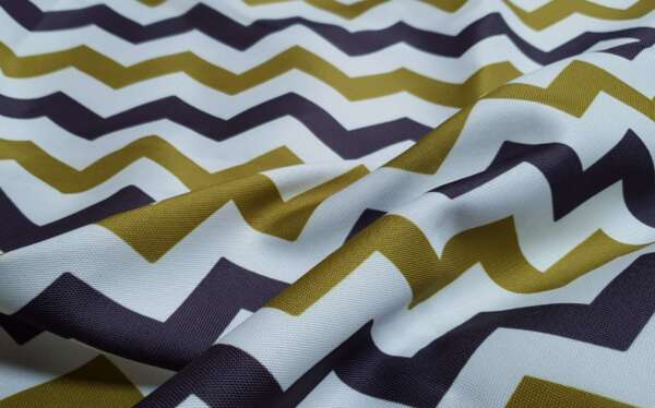 Zig Zag pattern Curtain Fabric