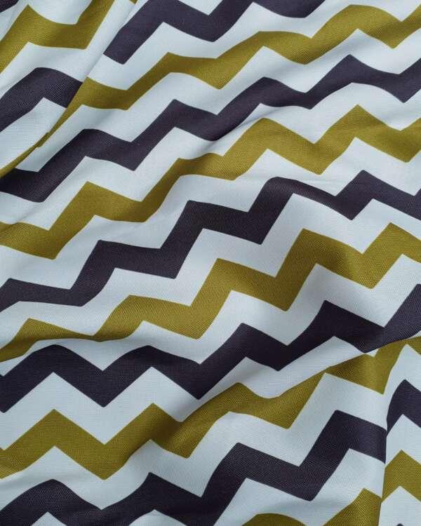 Zig Zag Print Curtain Fabric