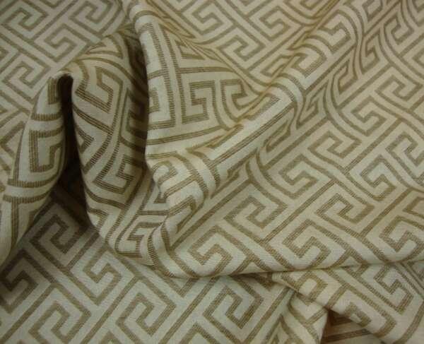 Greek Key Pattern Curtain Fabric