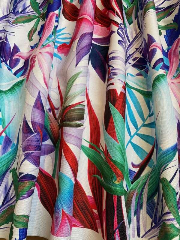 Tropical Palm Leaf Print FabricTropical Palm Leaf Print Fabric