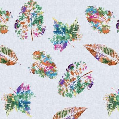 Botanical leaf print Curtain Fabric