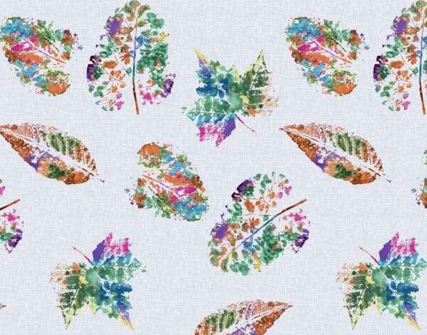 Botanical leaf print Curtain Fabric