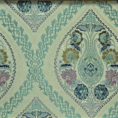 Curtain Fabric in Blue