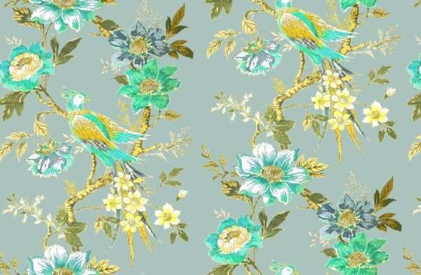 Peacock Pheasant curtain fabric