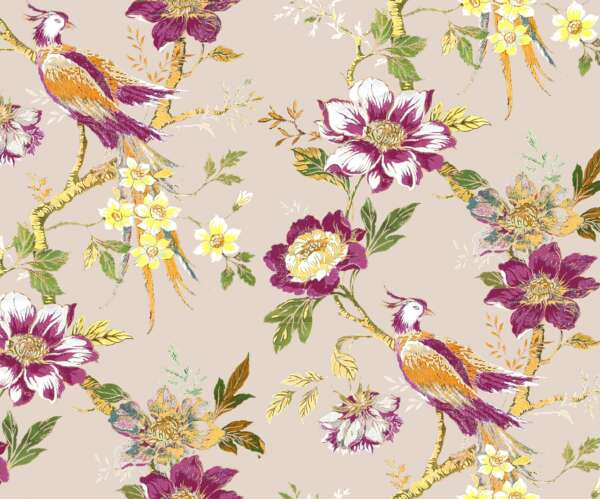 Pheasant print curtain fabric